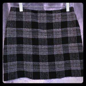 "Alice+Olivia ""Harris"" plaid wool blend skirt"
